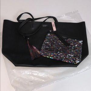Victoria Secret tote bag and clutch